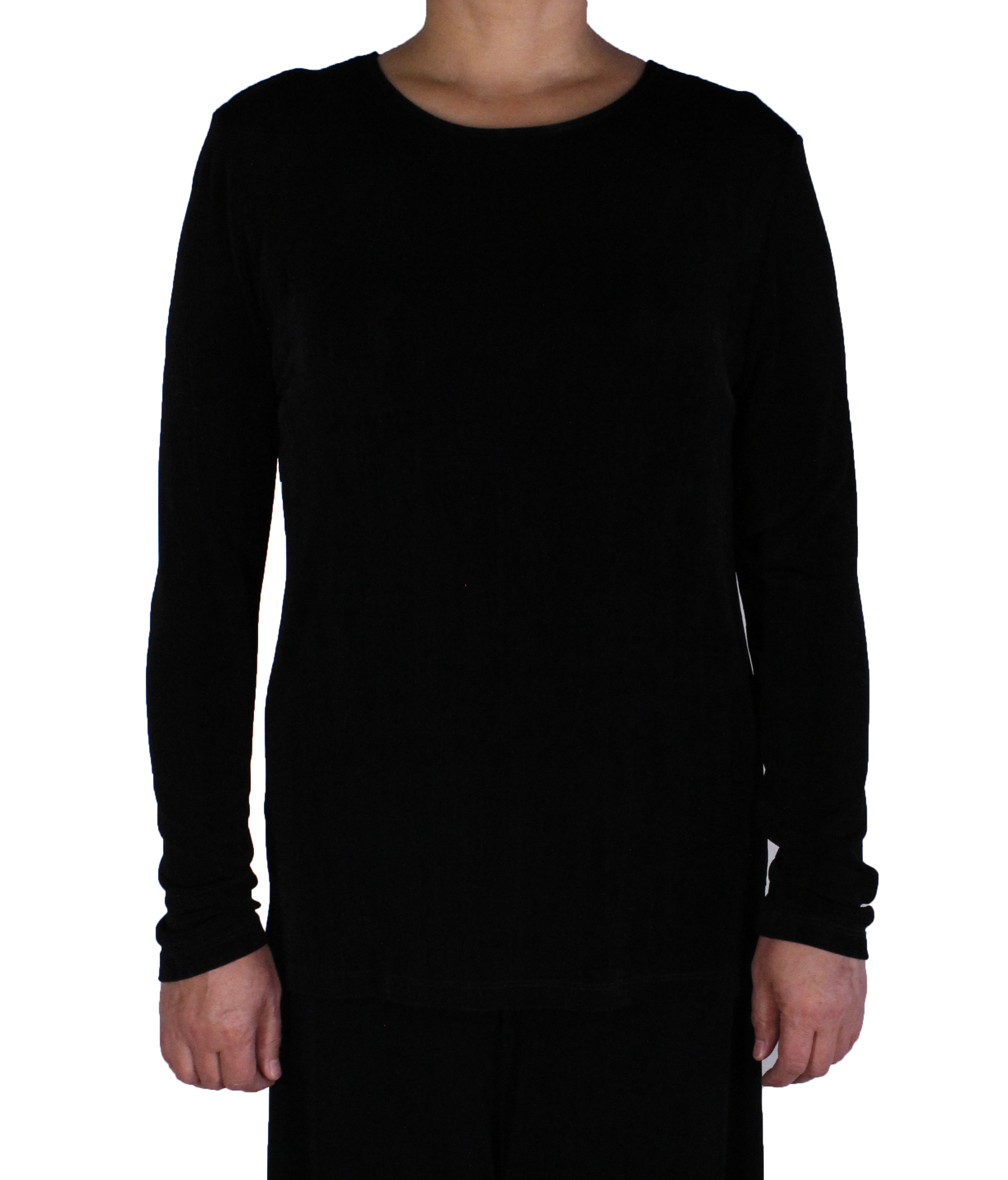 Women Slinky Jewel Neck Tunic Long Sleeve Top (016-1)
